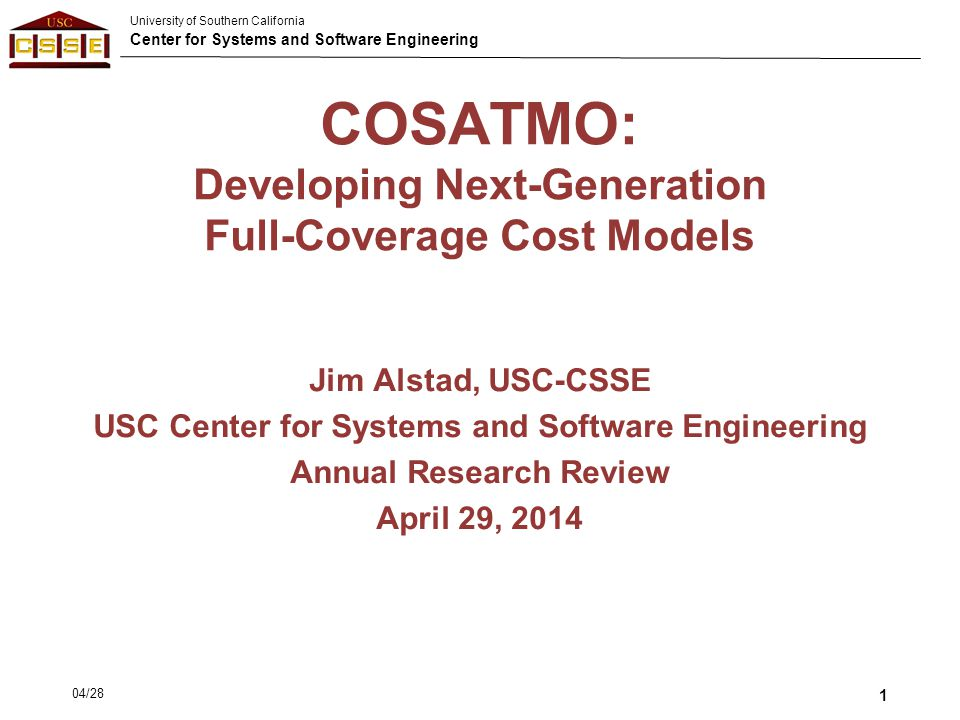 COSATMO: Developing Next-Generation Full-Coverage Cost Models