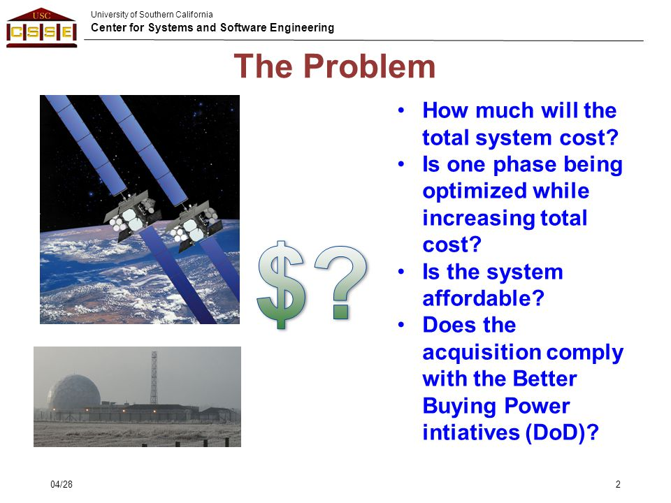 $ The Problem How much will the total system cost