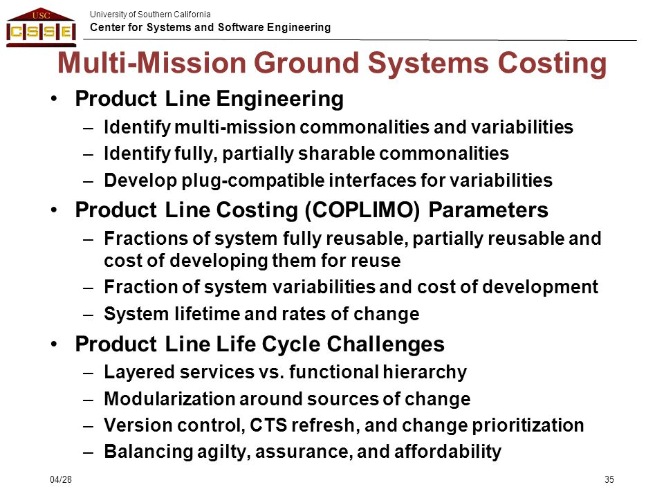 Multi-Mission Ground Systems Costing