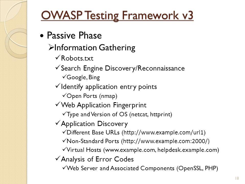 OWASP Testing Framework v3