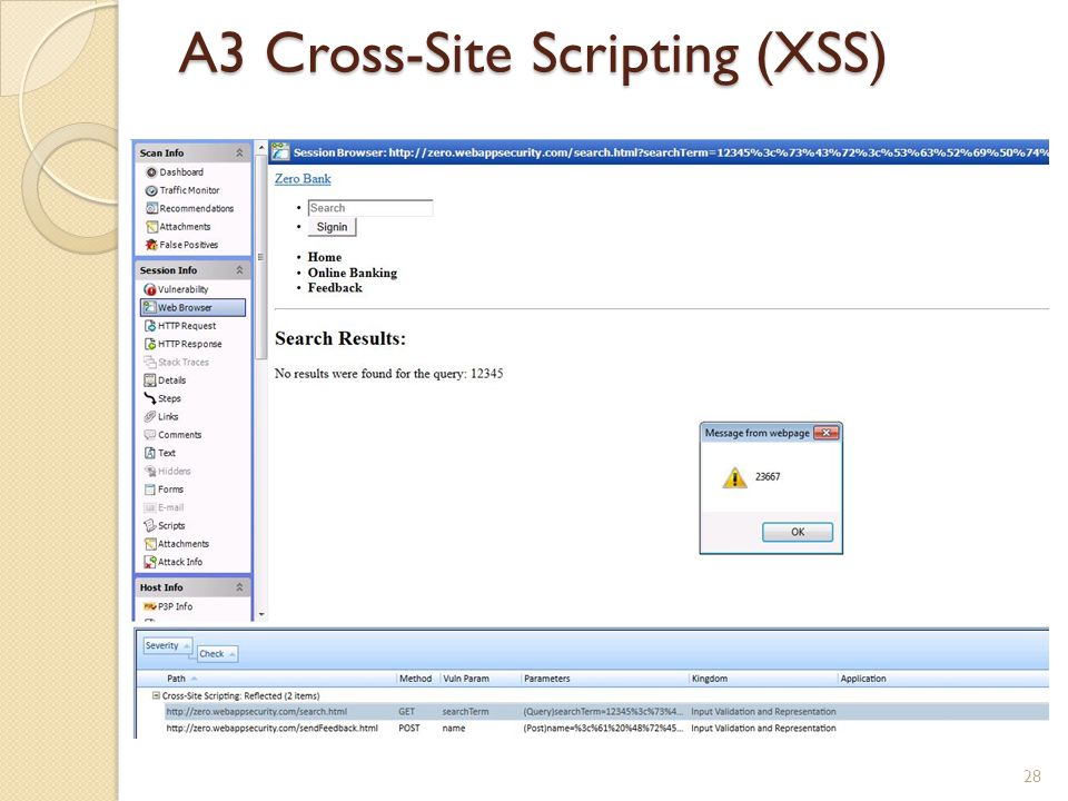 A3 Cross-Site Scripting (XSS)