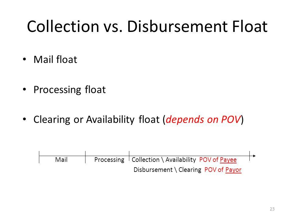 Collection vs. Disbursement Float