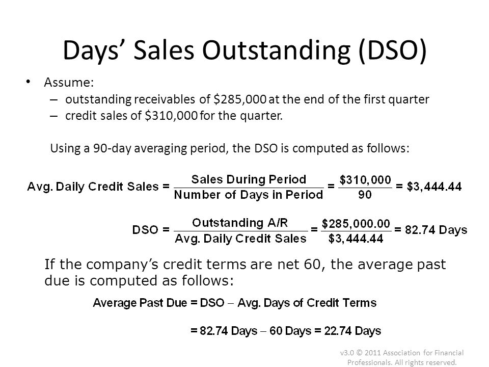 Days' Sales Outstanding (DSO)