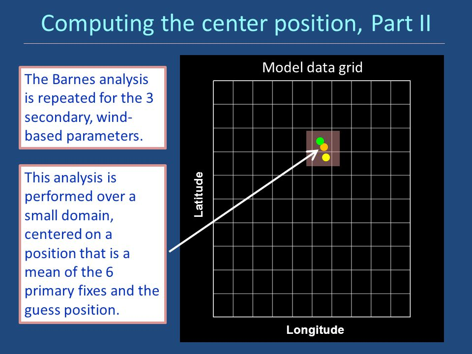 Computing the center position, Part II