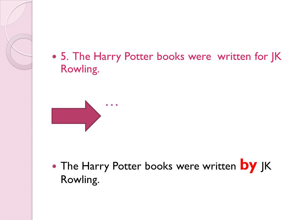 … 5. The Harry Potter books were written for JK Rowling.