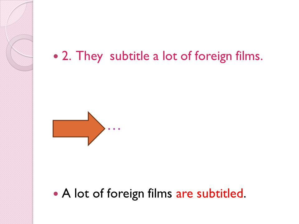 … 2. They subtitle a lot of foreign films.