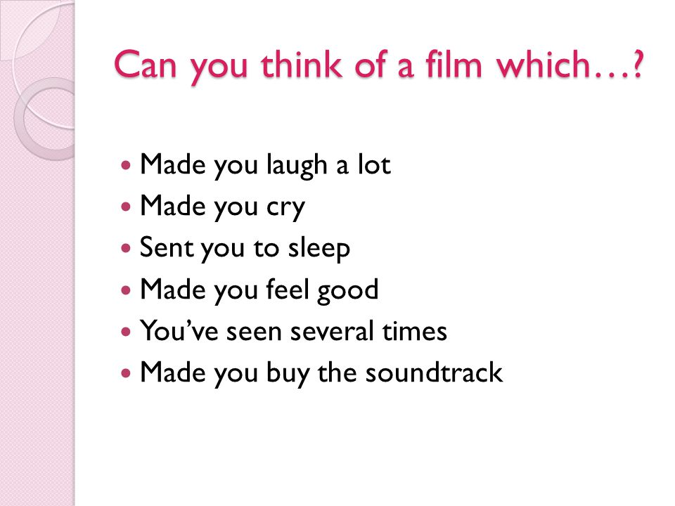 Can you think of a film which…