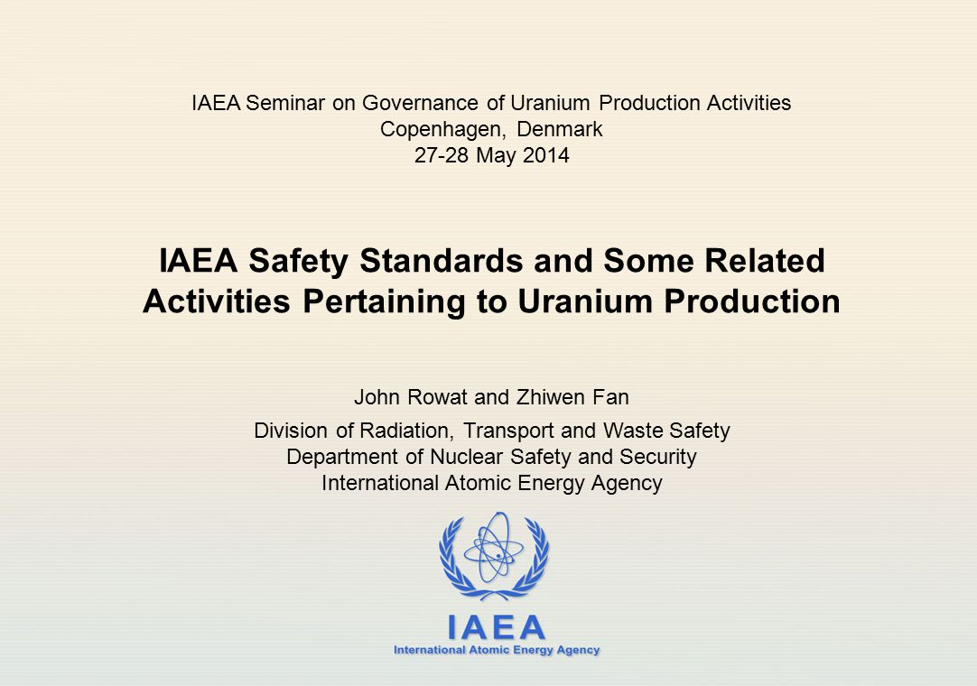 IAEA Seminar on Governance of Uranium Production Activities