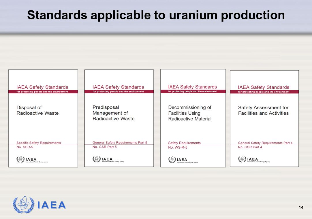 Standards applicable to uranium production