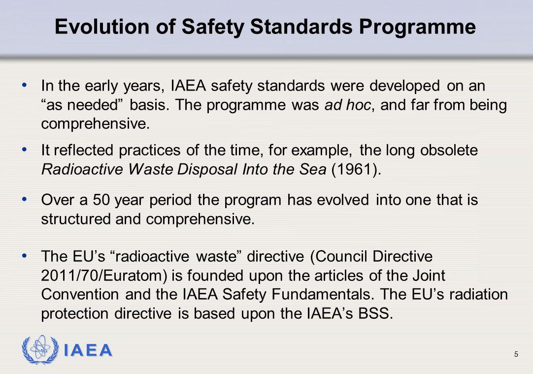 Evolution of Safety Standards Programme