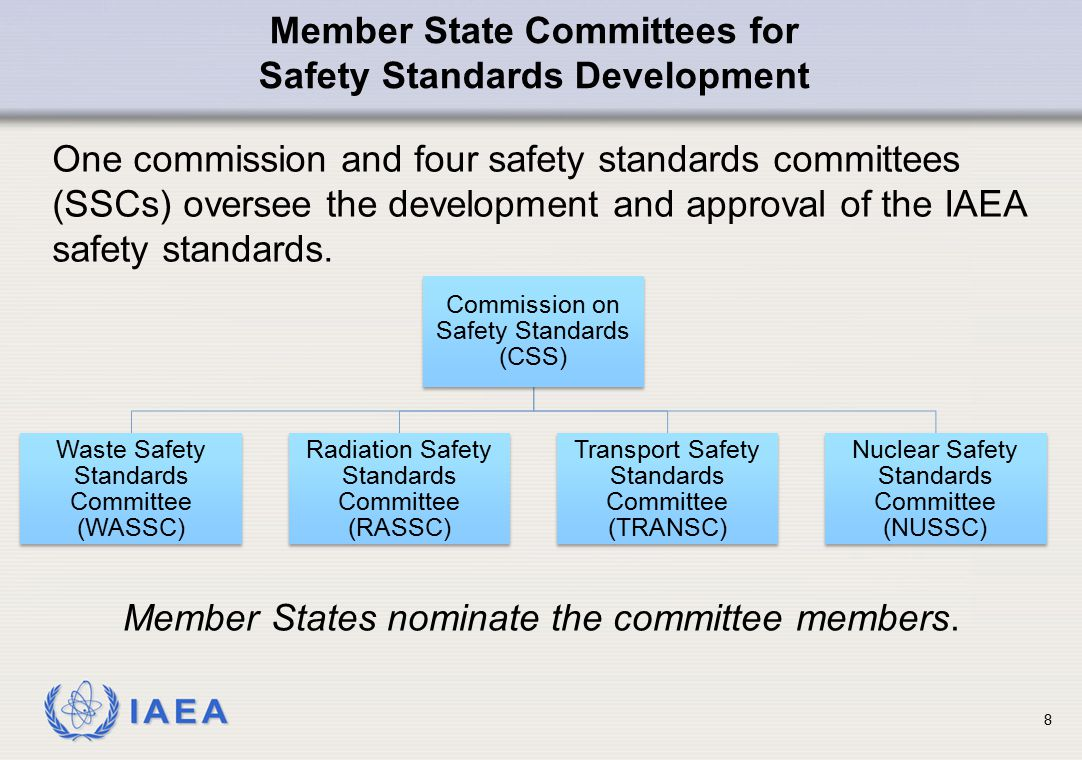 Member State Committees for Safety Standards Development