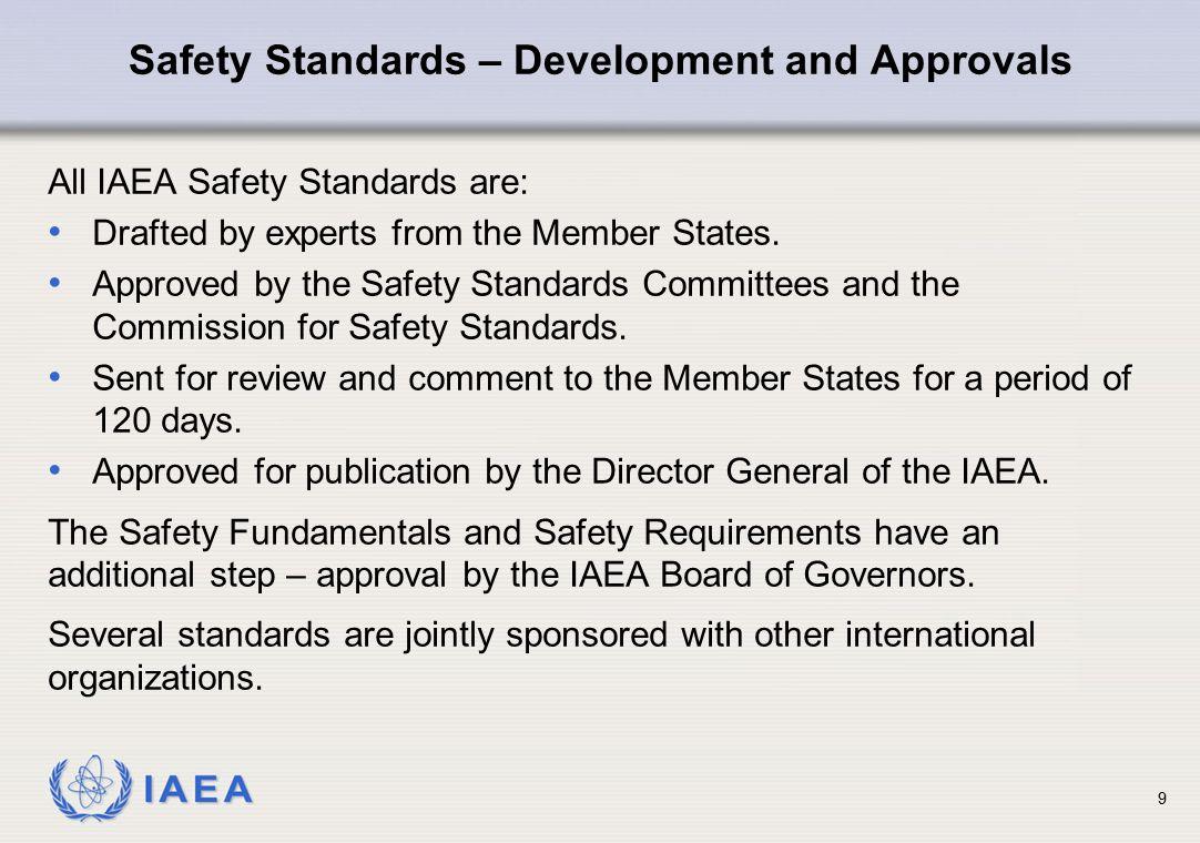 Safety Standards – Development and Approvals