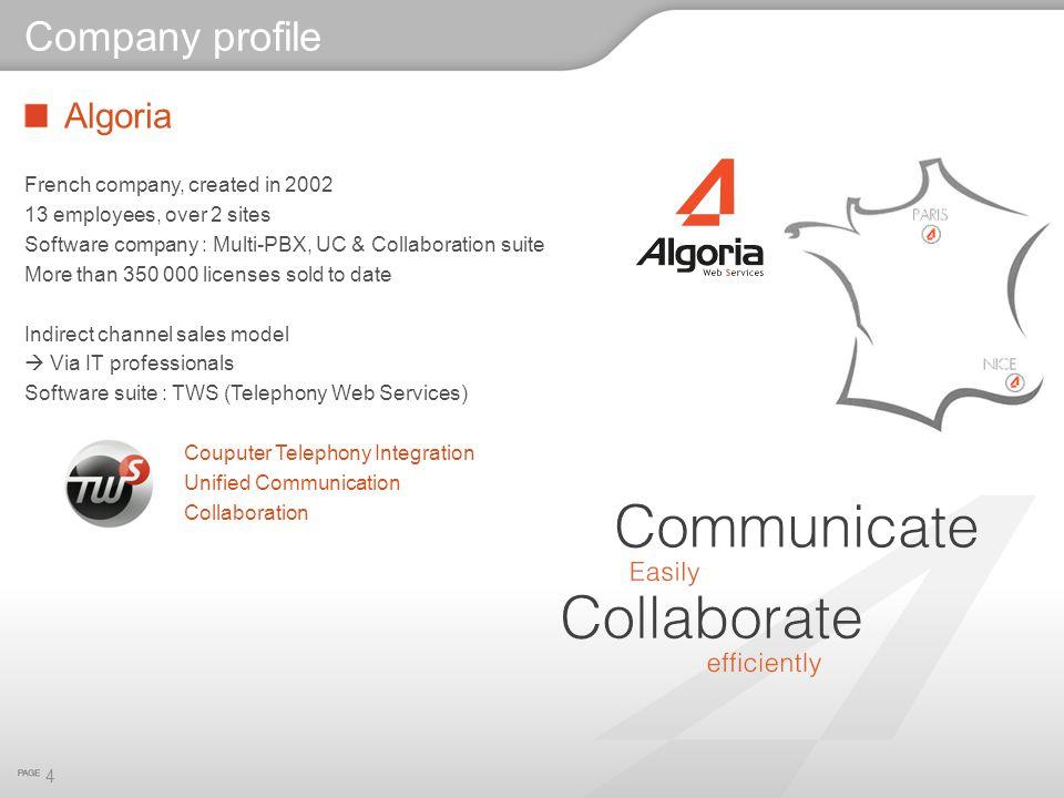 Company profile Algoria