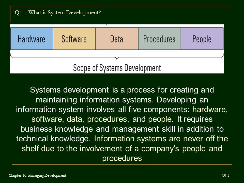 Q1 – What is System Development
