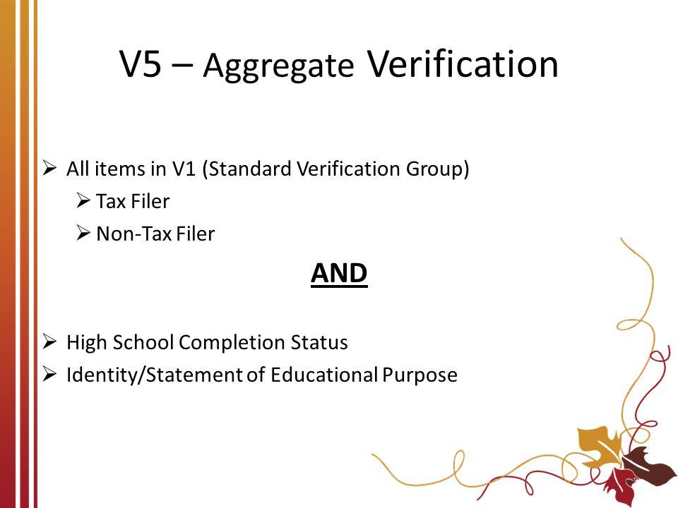 V5 – Aggregate Verification