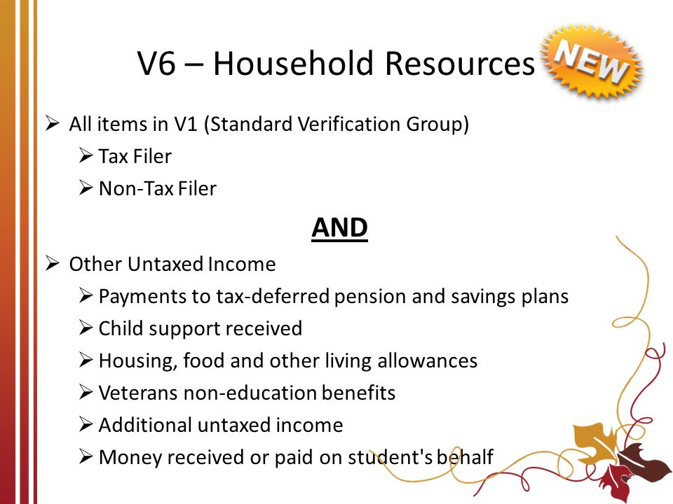 V6 – Household Resources