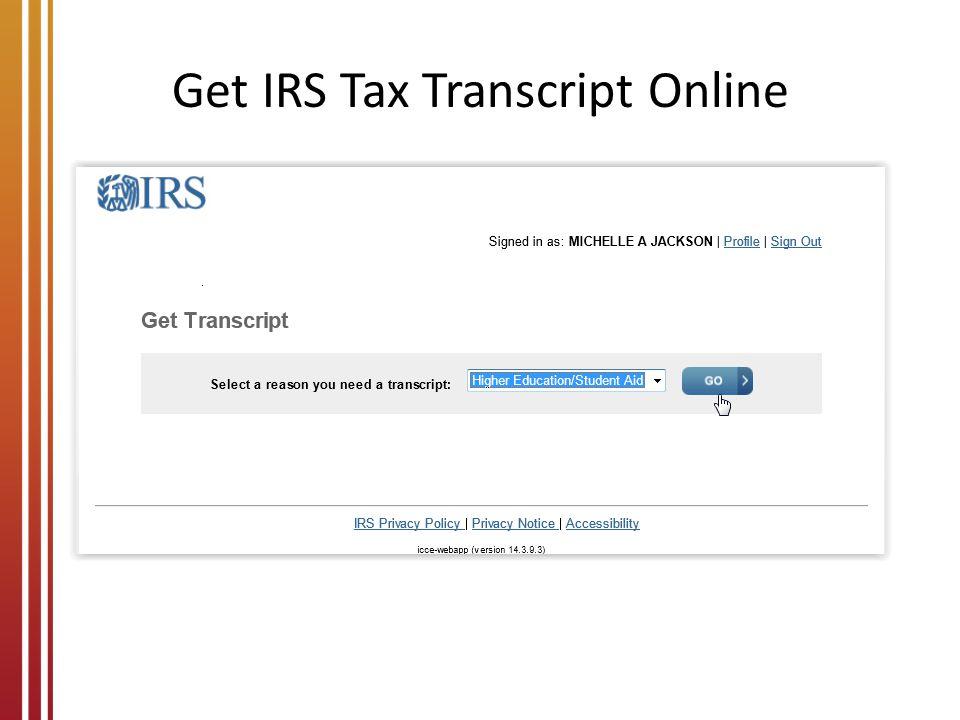 Get IRS Tax Transcript Online