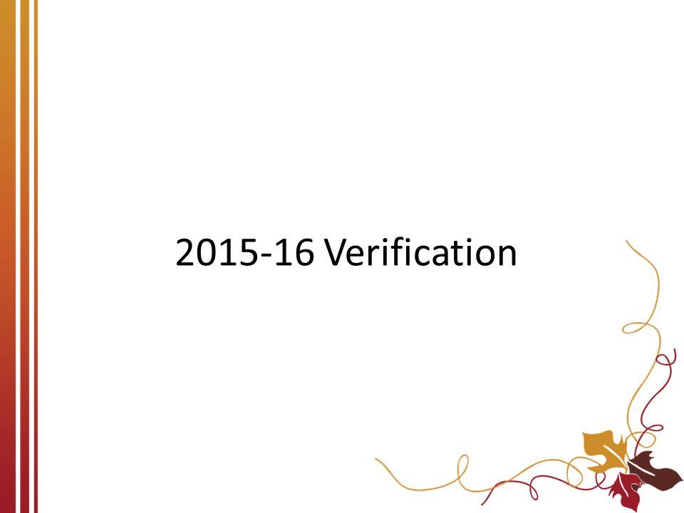 2015-16 Verification