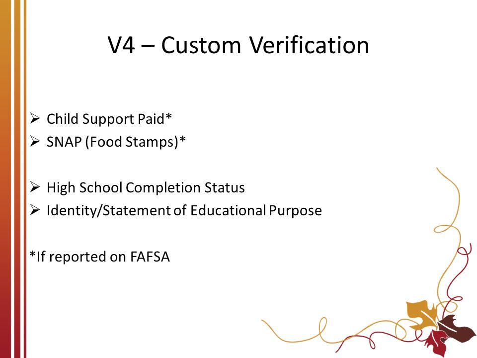 V4 – Custom Verification