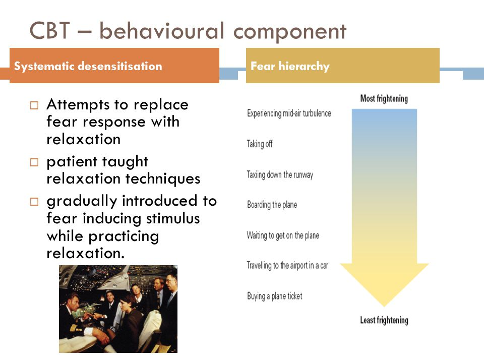 CBT – behavioural component