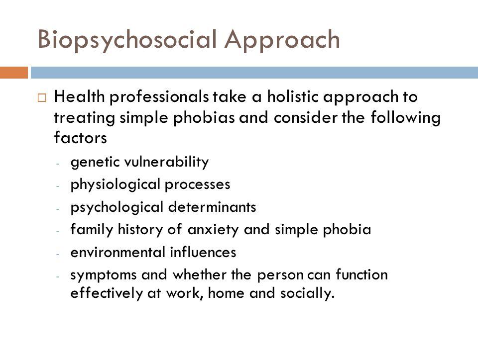 Biopsychosocial Approach