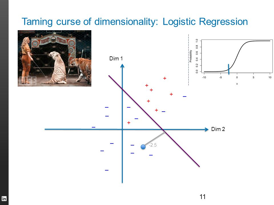Taming curse of dimensionality: Logistic Regression
