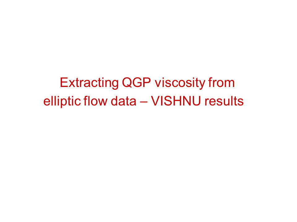 Extracting QGP viscosity from elliptic flow data – VISHNU results