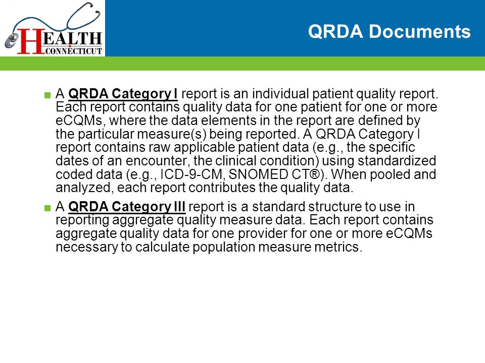 QRDA Documents