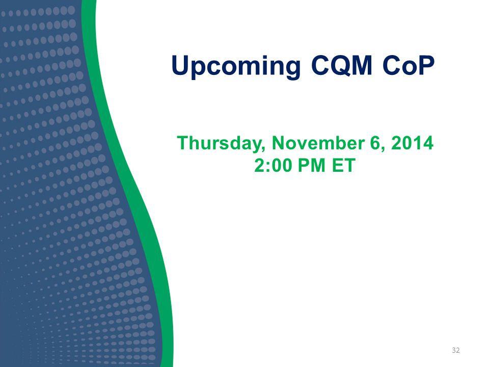 Thursday, November 6, 2014 2:00 PM ET