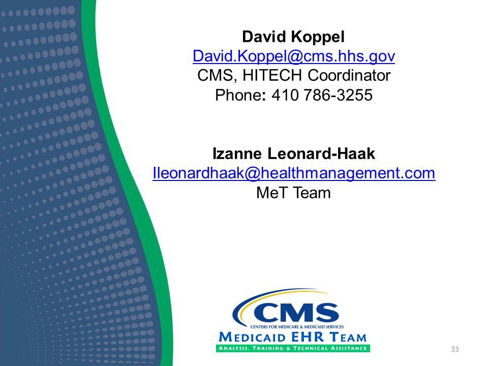 CMS, HITECH Coordinator