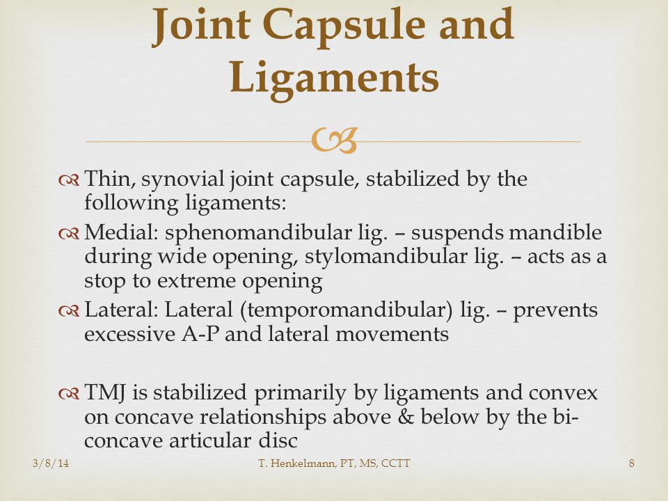 Joint Capsule and Ligaments