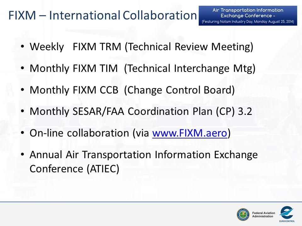 FIXM – International Collaboration
