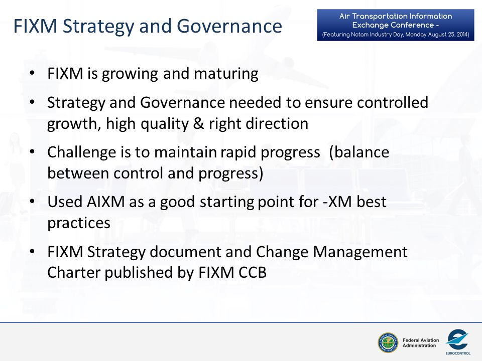 FIXM Strategy and Governance