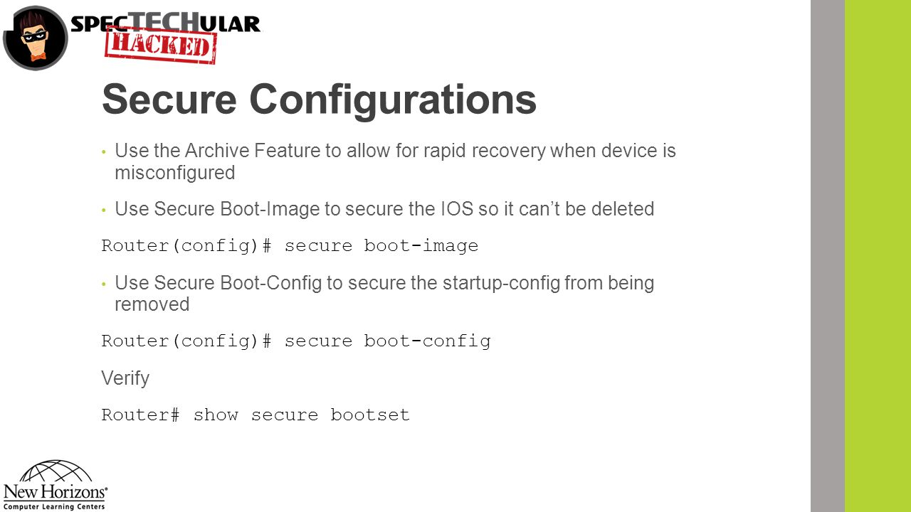Secure Configurations