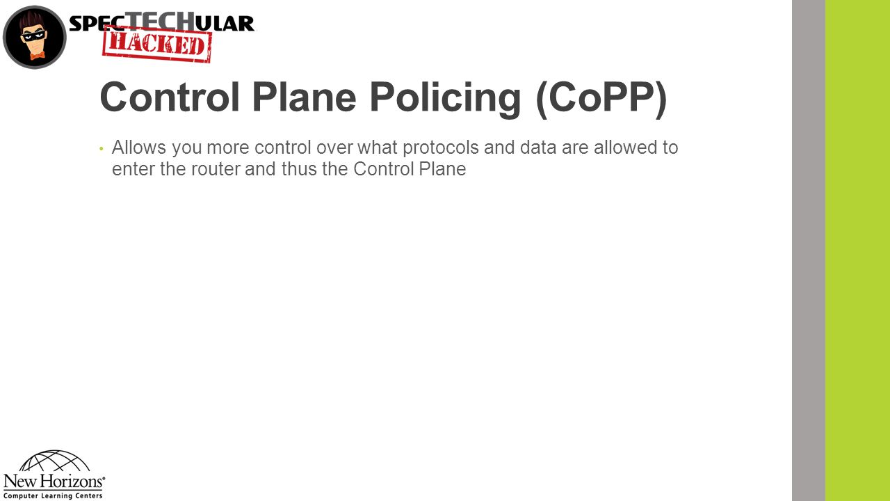 Control Plane Policing (CoPP)