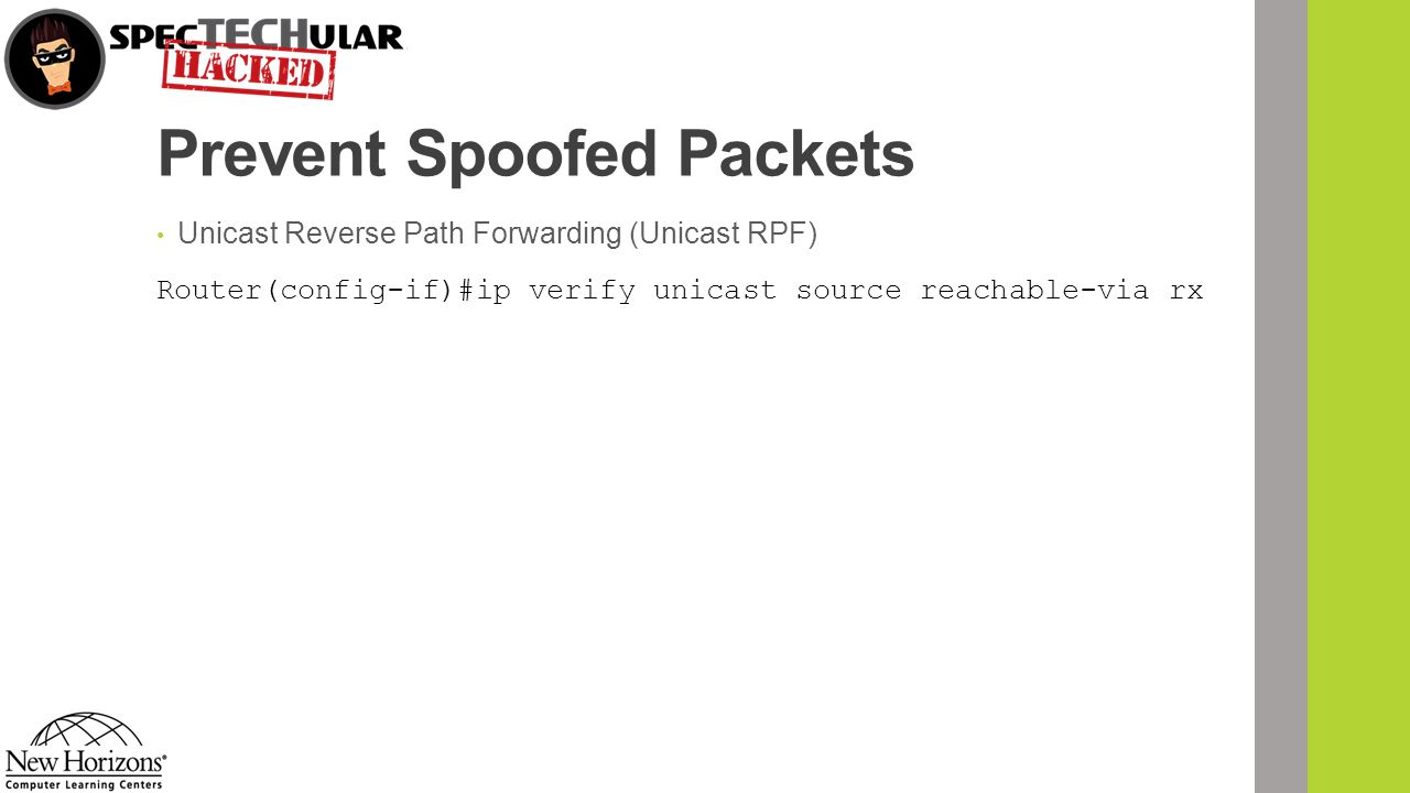 Prevent Spoofed Packets