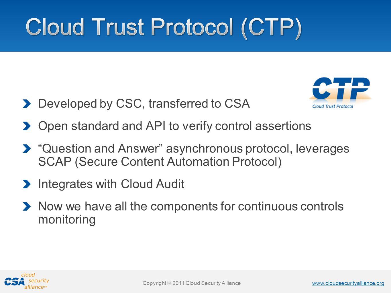 Cloud Trust Protocol (CTP)