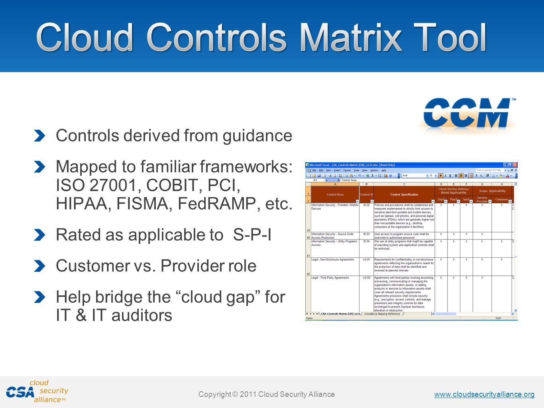 Cloud Controls Matrix Tool