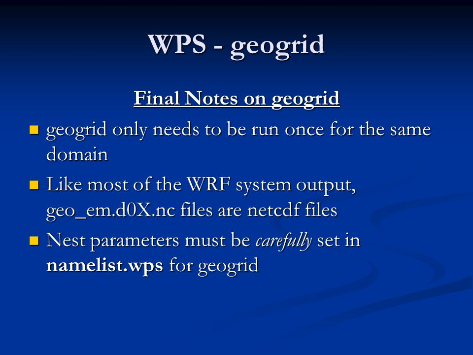 WPS - geogrid Final Notes on geogrid
