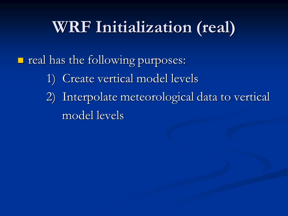 WRF Initialization (real)