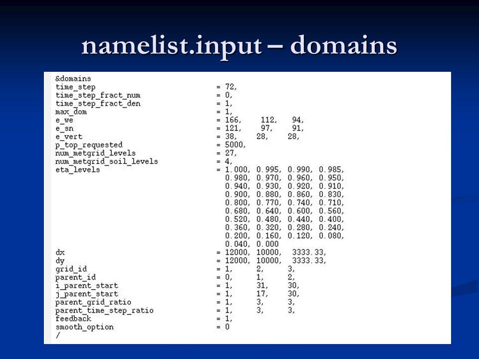 namelist.input – domains