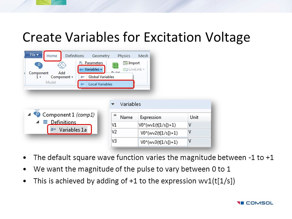 Create Variables for Excitation Voltage