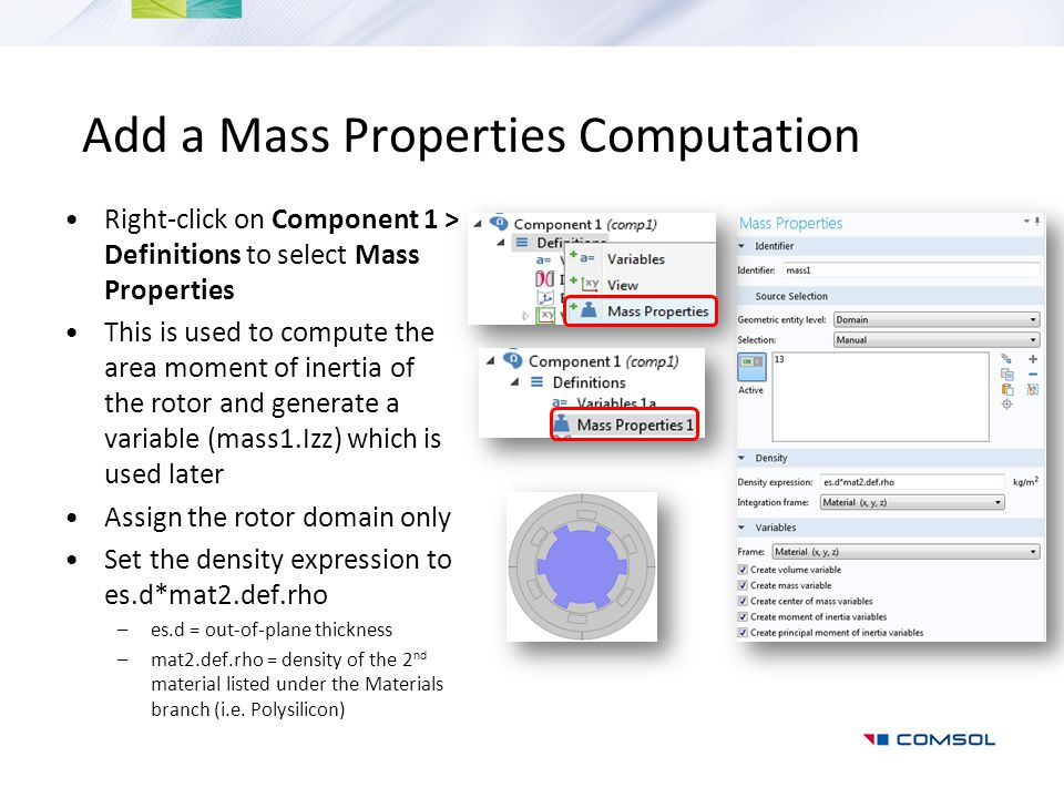 Add a Mass Properties Computation