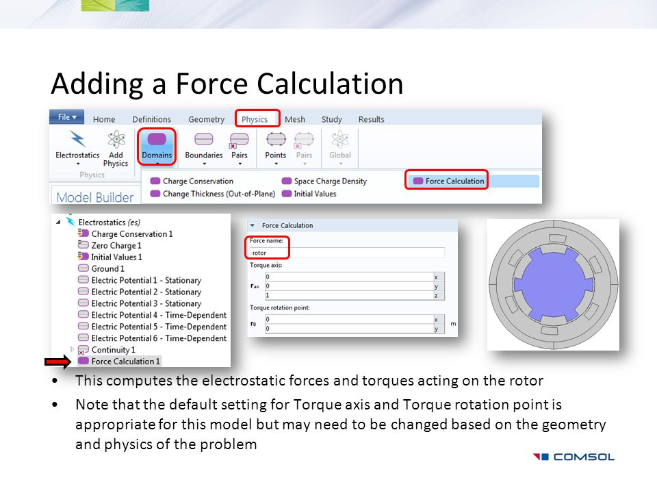 Adding a Force Calculation