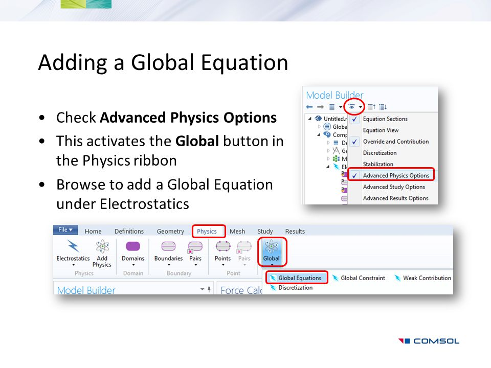Adding a Global Equation