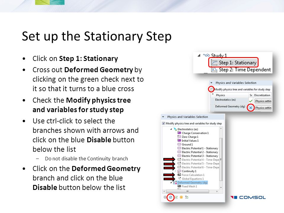Set up the Stationary Step