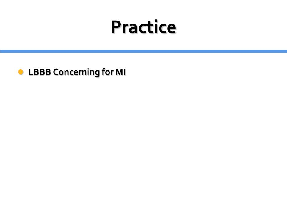 Practice LBBB Concerning for MI