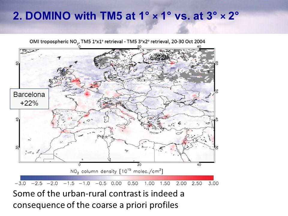 2. DOMINO with TM5 at 1° × 1° vs. at 3° × 2°