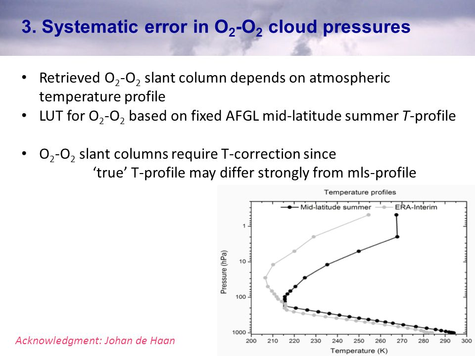 3. Systematic error in O2-O2 cloud pressures