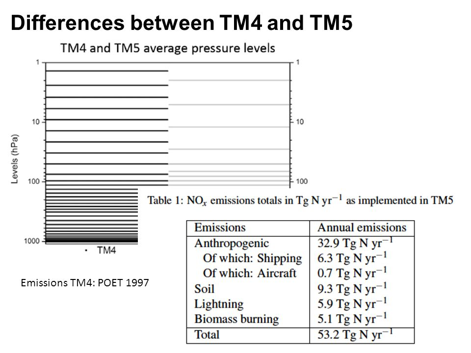 Differences between TM4 and TM5